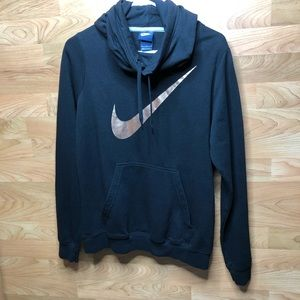 LARGE NIKE GOLD/BRONZE SWOOSH HOODIE WITH POCKETS